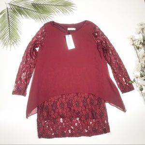Youyifang NWT Red Lace Dress Size Medium